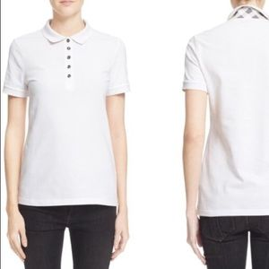 Burberry Brit white polo with Burberry check